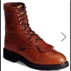 """ARIAT Work Boots 8"""" Cascade. Size 13 D"""